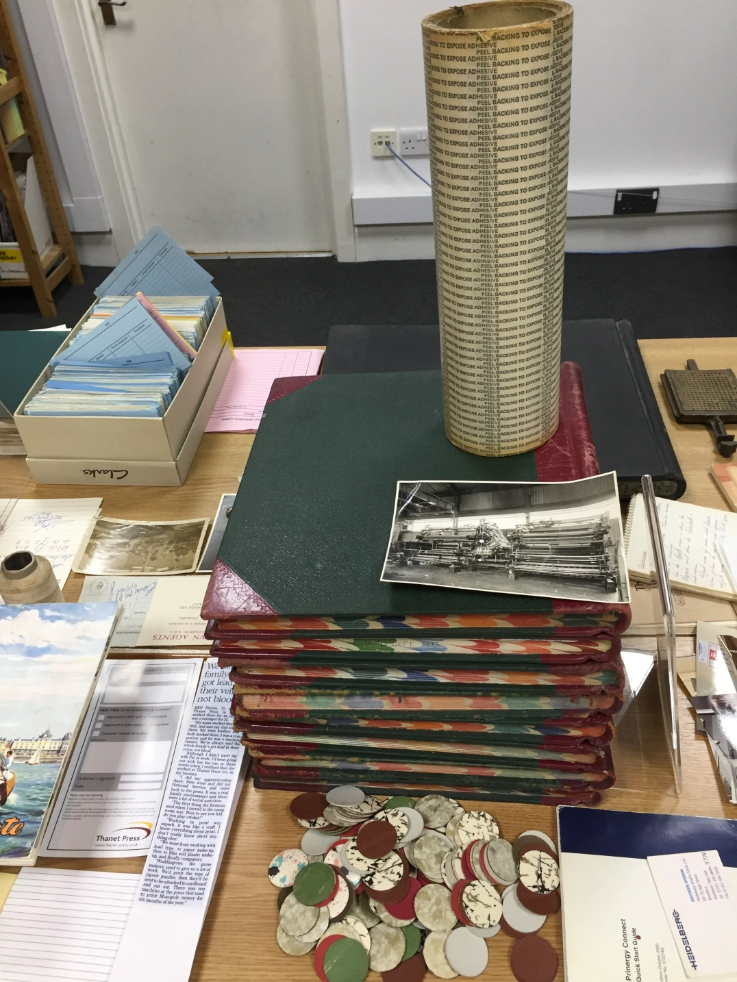 Objects and ephemera from Thanet Press