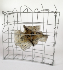 52 / 1964 / Mark Lomax / paper, wire, aluminium, paint, filler and PVA