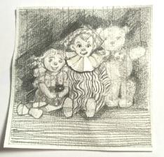 19 / 1950 / Andy Pandy / Ann Bridges / paper, pencil, collage