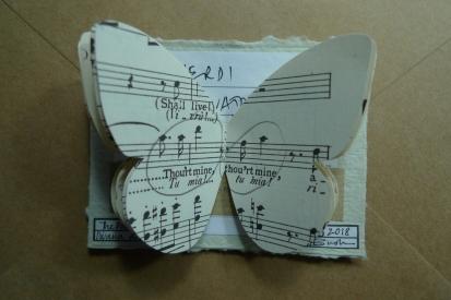 90 / 2002 / Diva Moth / Tracey Bush / Upcycled opera score