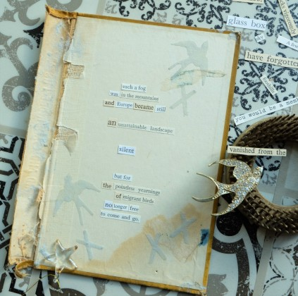 Detail / 92 / 2010 / Silent but for the pointless yearnings of migrant birds / Julie Kirk / Book cover, paper