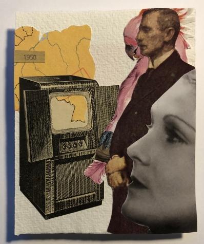 20 / 1950 / TVTupi / Carol Balthazar / Collage