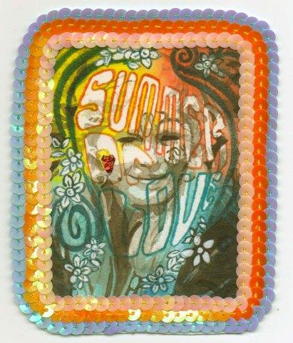 58 / 1967 / SummerofLove / Jennifer Merrell / Paper, sequins