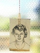 26 / 1955 / Portrait of Ruth Ellis / Iona McCuaig / paper, pearl beads