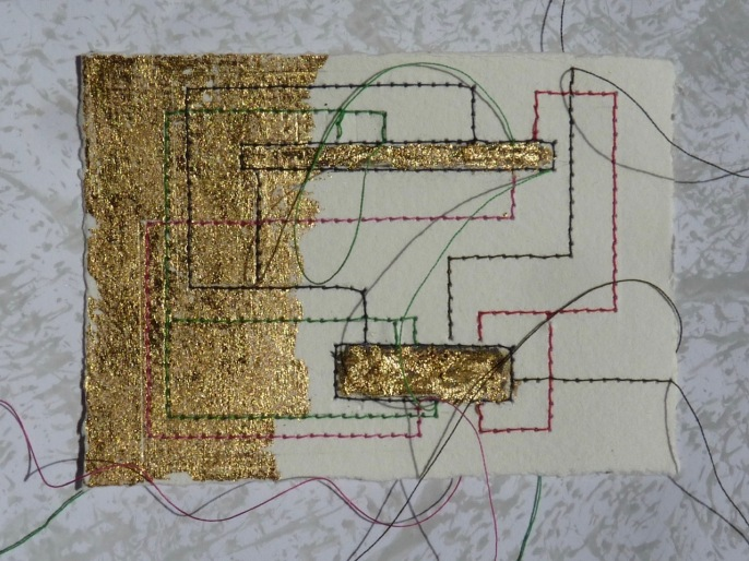 79 / 1982 / Untitled / Clare Dales / Untitled / paper, thread, gold